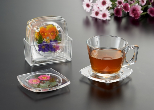 Square Coaster flower style