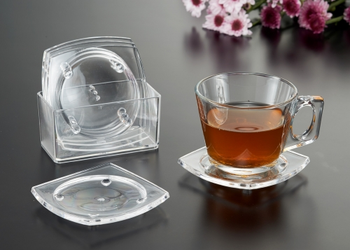 Square Coaster transparent style