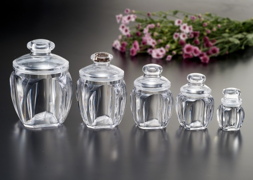 Walnut Canister transparent style